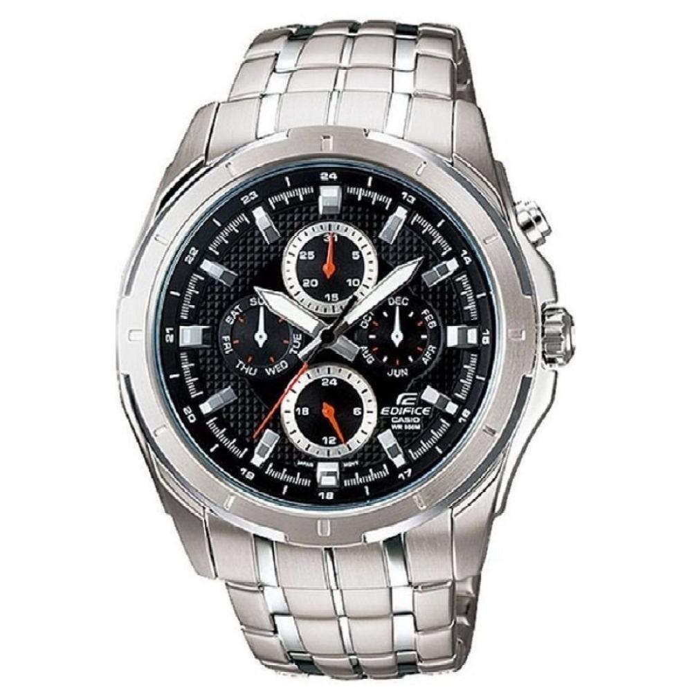 Casio Edifice นาฬิกาข้อมือ สายสแตนเลส รุ่น EF-328D-1AVDF - Silver/Black