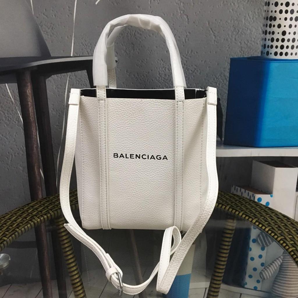 ?? Counter ของแท้ Balenciaga / Balenciaga กระเป๋าแฟชั่นช้อปปิ้งสาว ๆ ออกไปช้อปปิ้งกระเป๋าช้อปปิ้งหนังวัวเทรนด์แฟชั่นกระเ