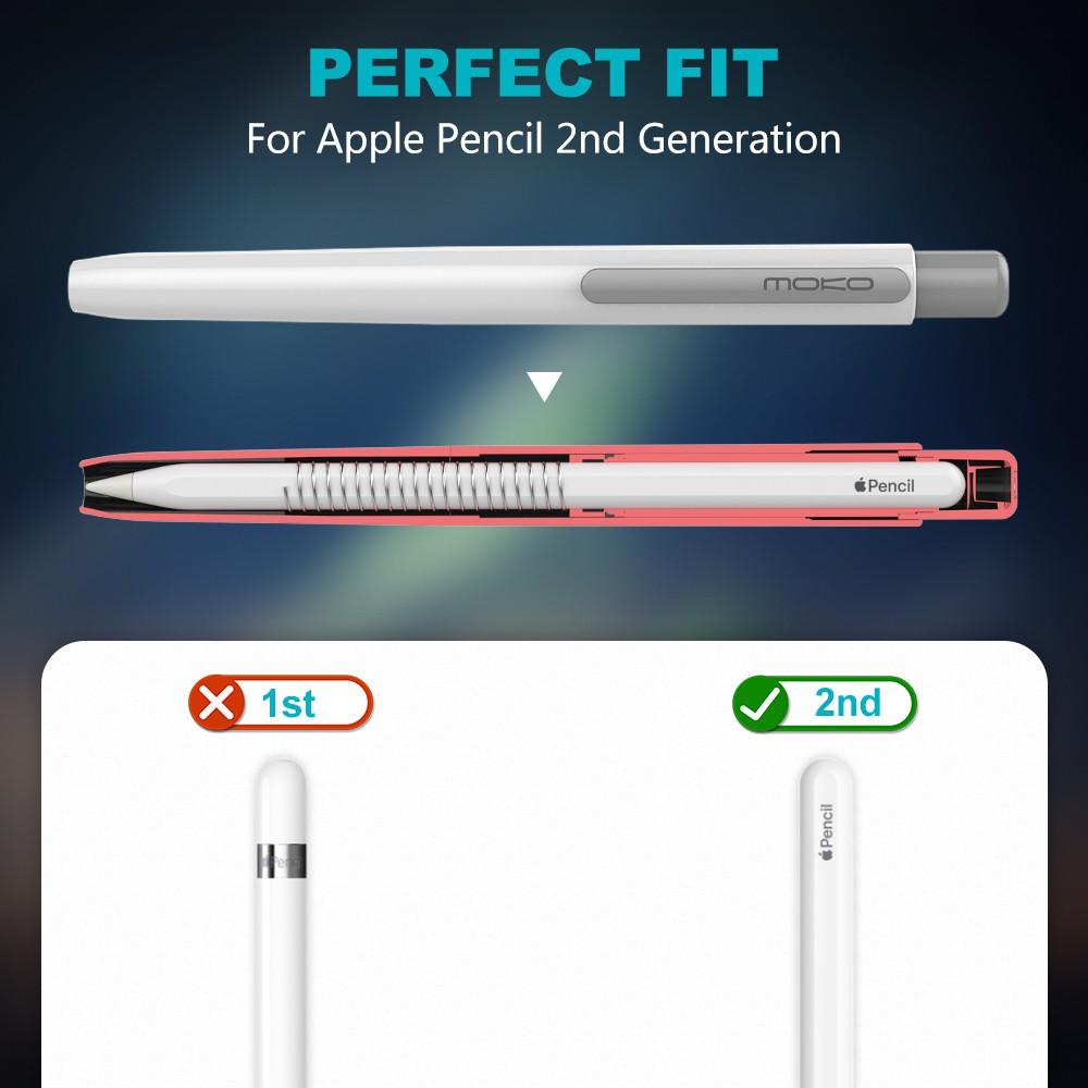 #อุปกรณ์เสริมดิจิตอล№✵❉MoKo Holder Case for Apple Pencil 2nd Generation,Retractable Tip Protection Secures Cap,Protectiv