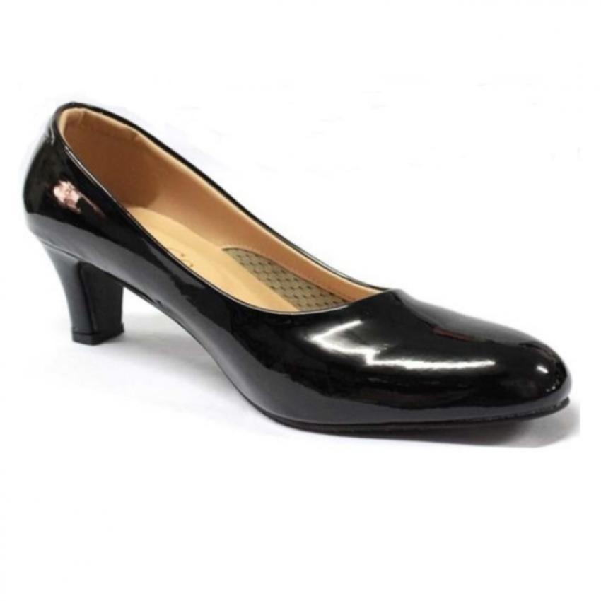 Ruay Tang รองเท้าแฟชั่นคัชชูส้นสูงผู้หญิง ( สีดำ )