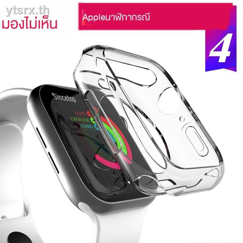 นาฬิกาข้อมือ Apple Watch Seriesเคสนาฬิกา Apple Watch  เคสพร้อมกระจกกันรอยคลุมรอบหน้าจอ Apple watchApple watch5 watch protective case Iwatch4/5 generation transparent 40MM/44MM