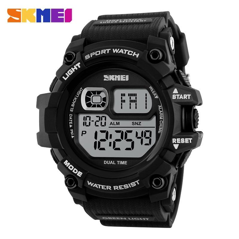 SKMEI 1229 นาฬิกาข้อมือดิจิตอล LED สำหรับผู้ชาย