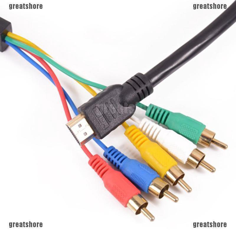 Premium 3-RCA Composite Video Audio A//V AV Cable GOLD For Xbox HDTV AV Receiver