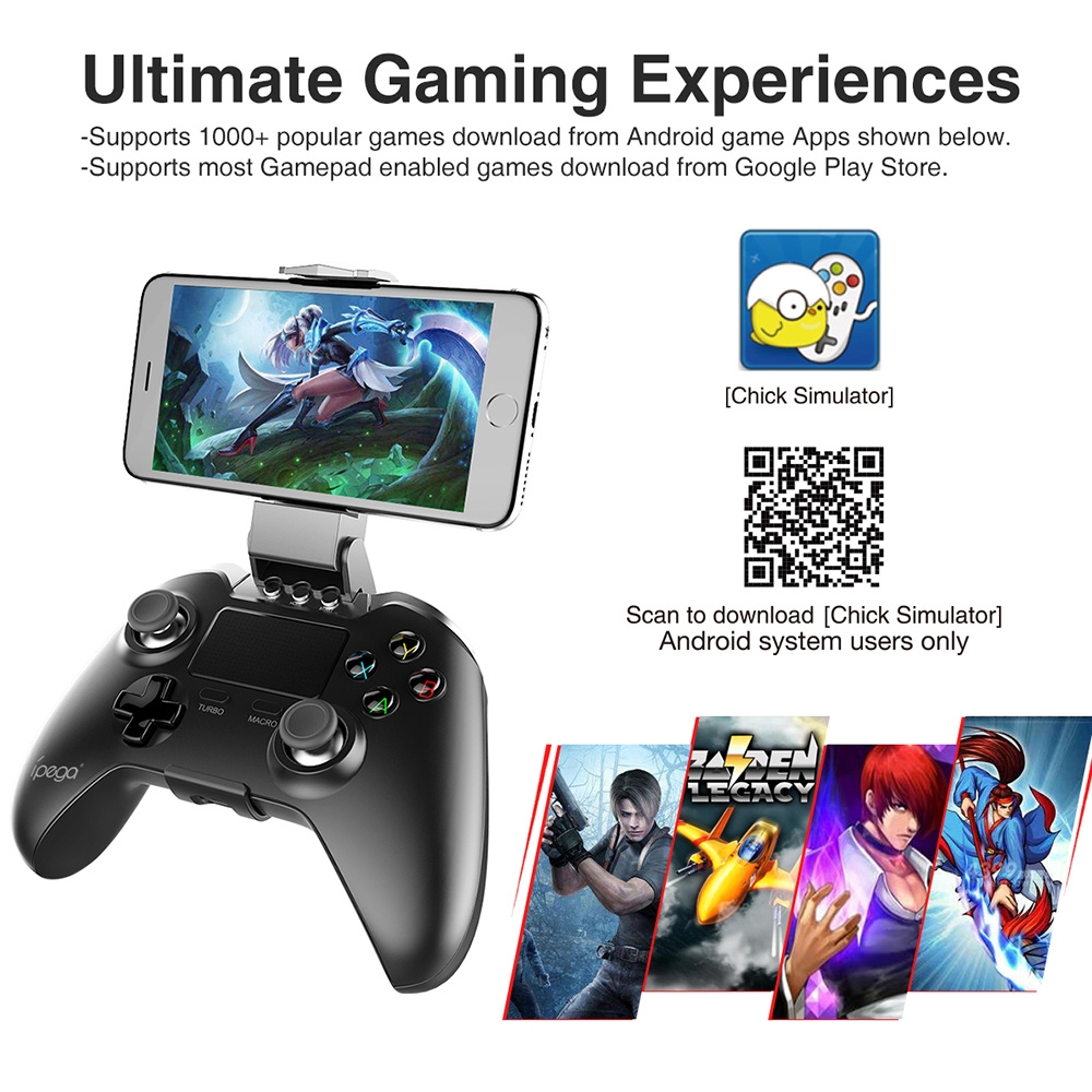 iPega PG-9069 PG 9069 Gamepad Bluetooth Wireless Joystick Gaming Controller  Control for Smartphone Android Tablet PC