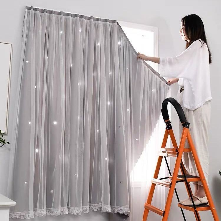 120*180 CM ผ้าม่านประตู ผ้าม่านหน้าต่าง ผ้าม่านสำเร็จรูป ม่านเวลโครม่านทึบผ้าม่านกันฝุ่น ใช้ตีนตุ๊กแก ผ้าม่านและมู่ลี่