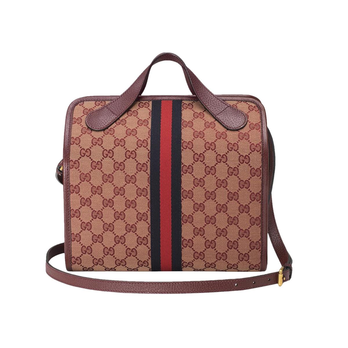 GUCCI | 【พิเศษครบรอบ】GUCCIกระเป๋าผู้ชายGGDuffleเดินทางกระเป๋า