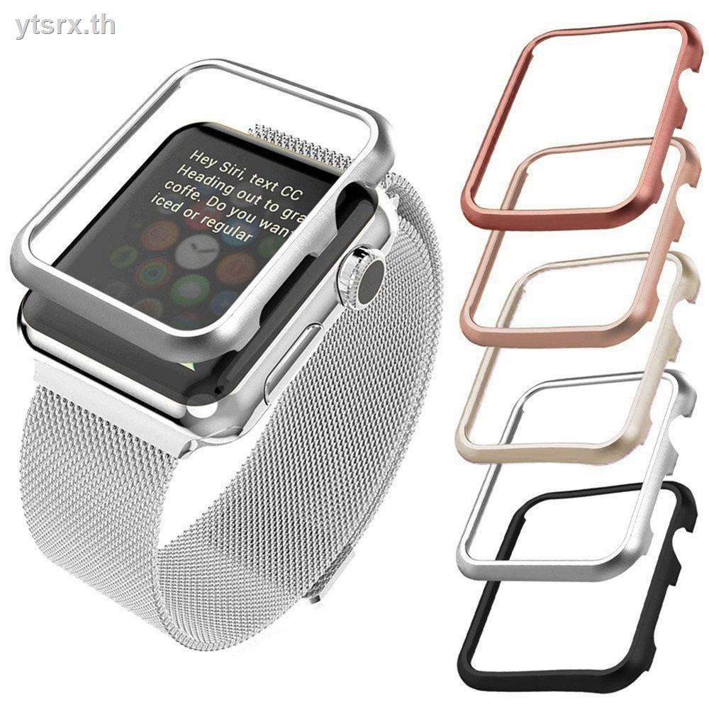 พร้อมส่งจากไทย เคส Apple Watchนาฬิกาข้อมือ Apple Watch Series เคสพร้อมกระจกกันรอยคลุมรอบหน้าจอ Apple watchApplicable to Apple Watch case 2/3/4/5 generation aluminum alloy frame iwatch