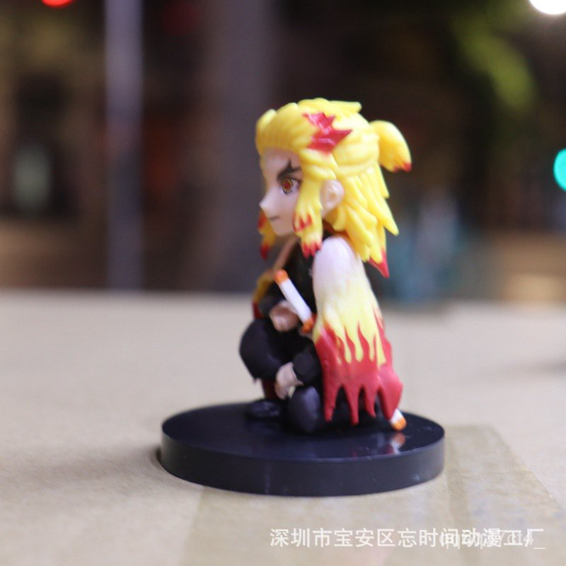 Demon Slayer's Blade Wcf Column 4 Styles 1 Set Tomioka Giyuu Kochou Shinobu Rengoku Kyoujurou Figure Model Decoration#¥1
