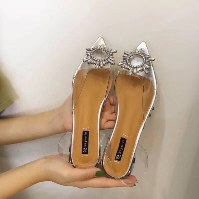 รองเท้าผู้หญิงคัชชูหัวแหลม ส้นเตี้ย งานสวย✨พร้อมส่ง