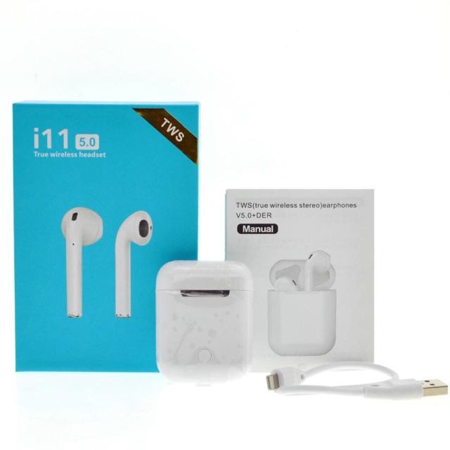 💥หูฟังใช้สำหรับiPhone/samsuang/oppo/vivo รับประกันหูฟัง บลูทูธ i11 TWS ทัชสกรีน ไร้สาย Bluetooth 5.0💥