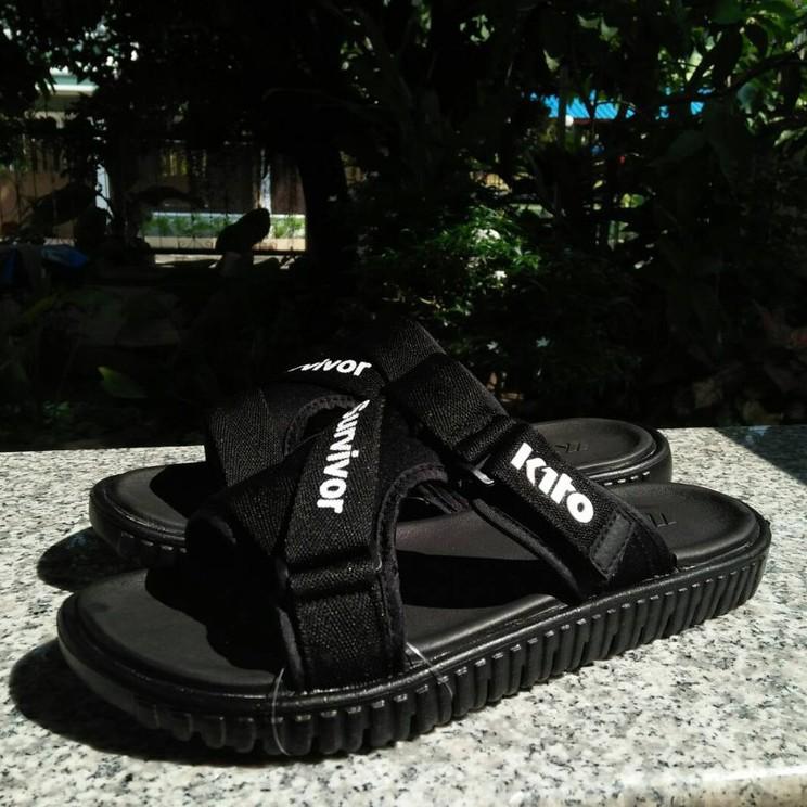 รองเท้าชาย รองเท้ารัดส้นผู้ชาย รองเท้าคัชชูผู้ชาย รองเท้าแตะ รองเท้ารัดส้น กีโต้ Kito Survivor แบบแตะสวม ชาย/หญิง สีดำ ส