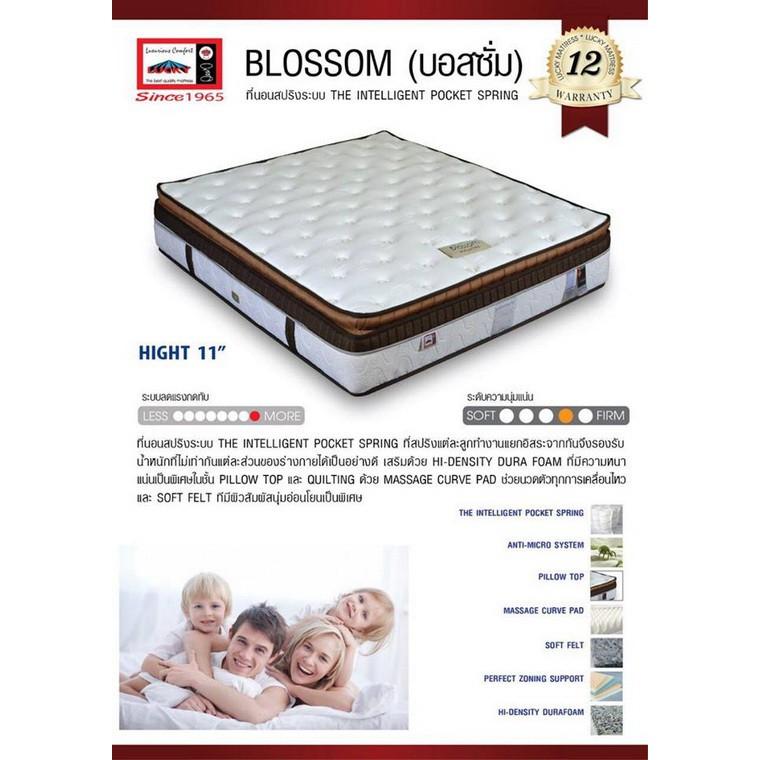 Lucky Mattress ที่นอนระบบ The INTELLIGENT Pocket Spring เพื่อสุขภาพ ขนาด 6 ฟุต รุ่น Blossom-6