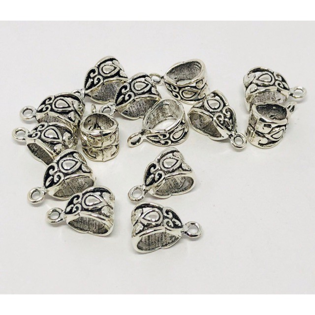 สร้อยคอทอง⌵ ลูกปัดโลหะพร้อมห่วงสำหรับห้อยจี้ มี 10 แบบ จี้ห้อย (ราคาต่อหนึ่งชิ้น)  charmใส่กำไลได้ พร้อมส่ง 🇹🇭