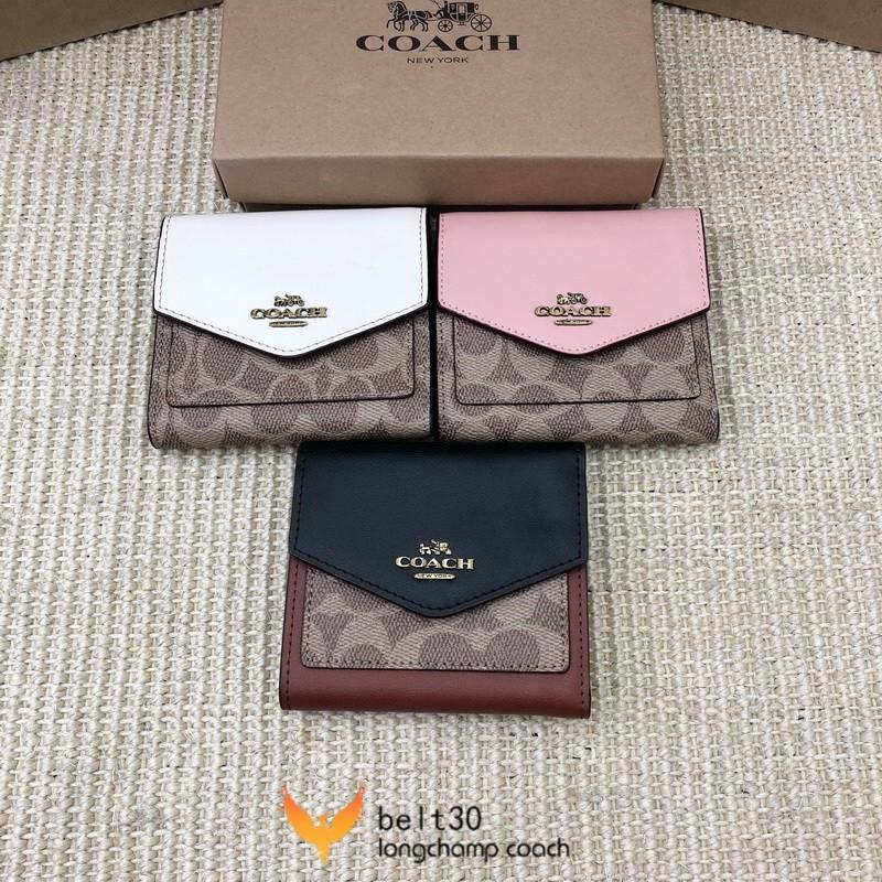 ใหม่ Coach กระเป๋าสตางค์ใบสั้น Coach F31548 กระเป๋าสตางค์ผู้หญิงใบสั้นกระเป๋าสตางค์ผู้หญิงหลายใบกระเป๋าสตางค์หนังใบสั้น