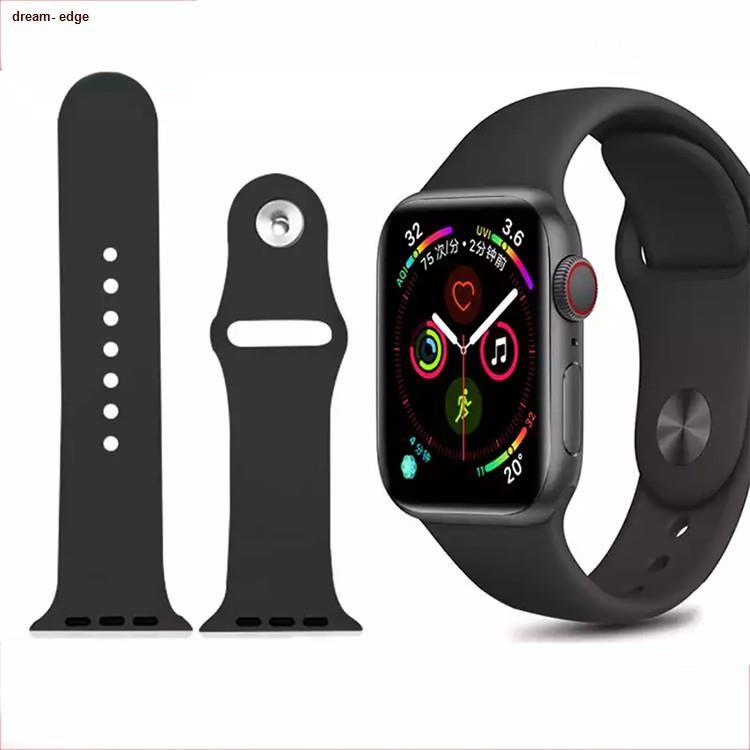 ❀dream- edge❀✗[ส่งเร็ว สต๊อกไทย] สาย Apple Watch Sport Band สายซิลิโคน สำหรับ applewatch Series 6 5 4 3 ตัวเรื่อน 44mm 4