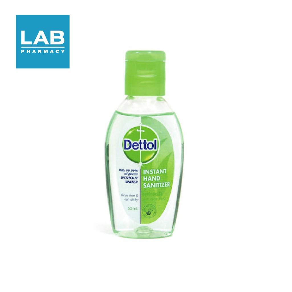 Dettol Instant Hand Sanitizer Refresh  - เจลล้างมืออนามัย สูตรหอมสดชื่น ผสมอโลเวร่า