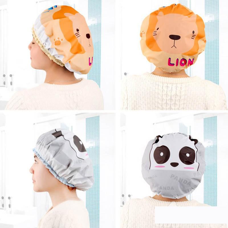 หมวกคลุมผมอาบน้ำเด็ก ลายการ์ตูนน่ารัก
