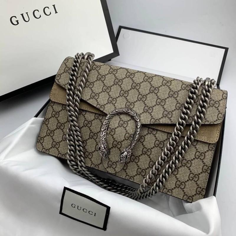 กระเป่าผู้หญิง*Gucci  Dionysus ลายตรงช่อง ตามแบบแท้ ขายดีมากๆค่ะรุ่นนี้  Grade Original