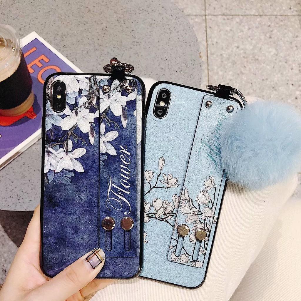 Samsung Galaxy M11 A7 A9 2018 A6+ J4+ J6+ J4 J6 A6 plus J2Pro ย้อนยุค ดอกไม้ กรณีโทรศัพท์มือถือ TPU Case กรณีป้องกัน ma9