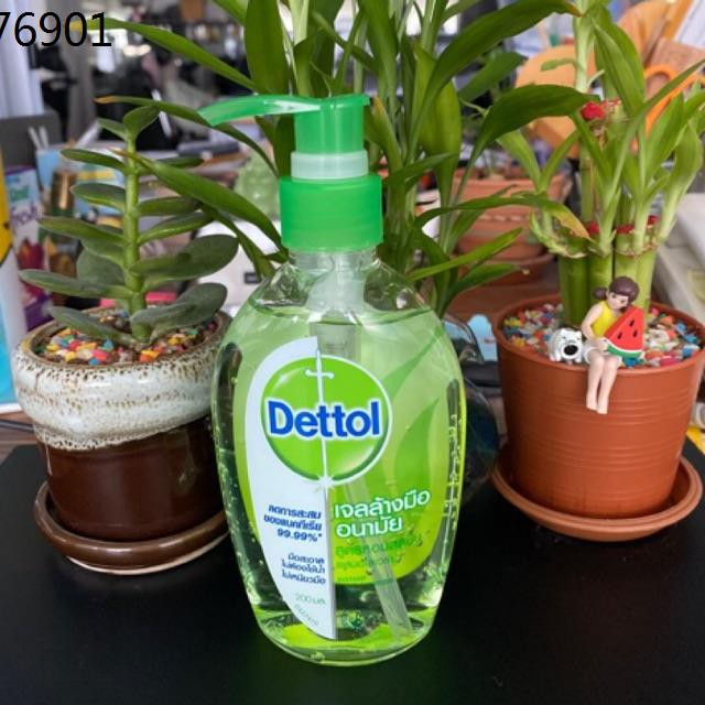 เดทตอล dettol ♘Dettol เจลล้างมืออนามัย สูตรหอมสดชื่นผสมอโลเวล่า✦