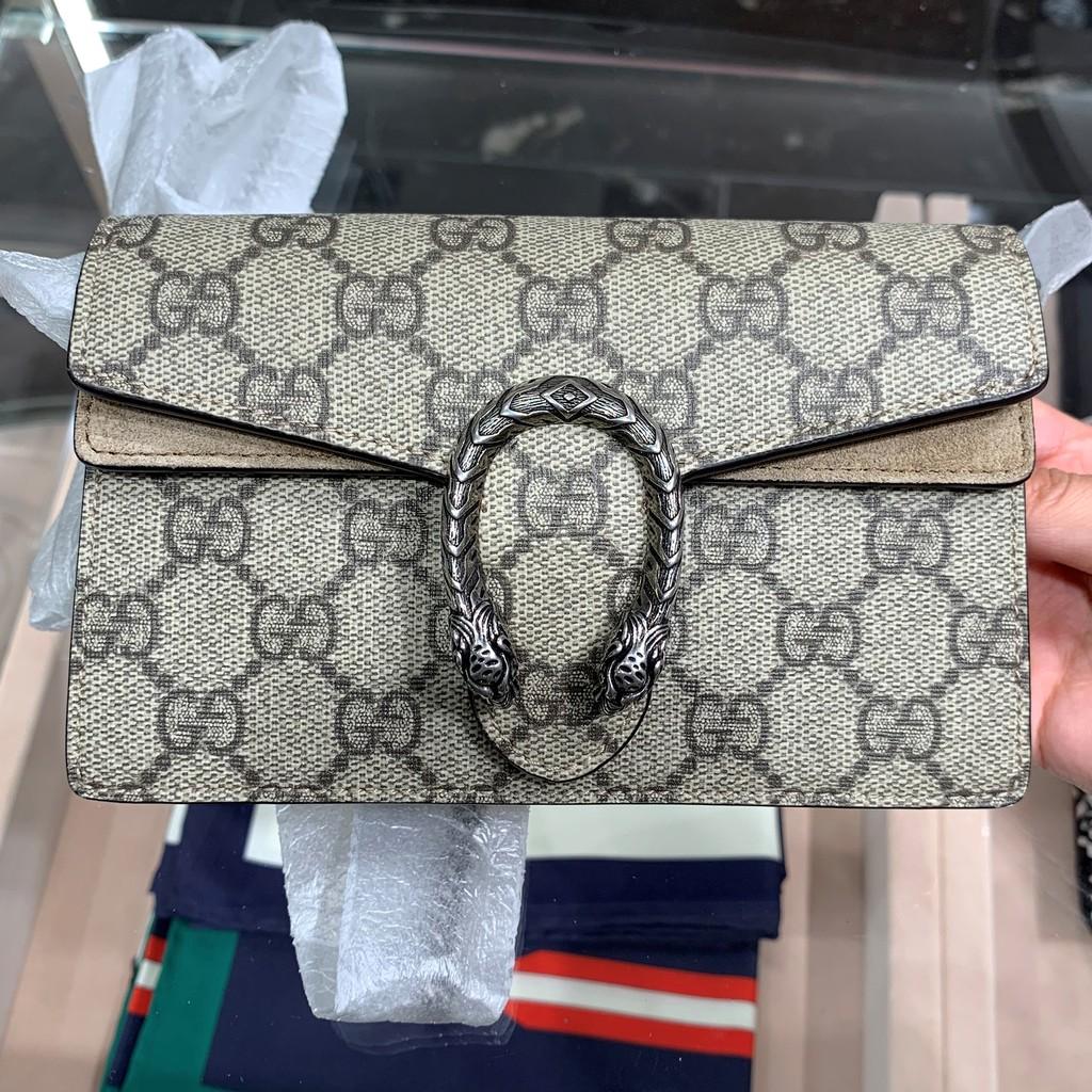 Gucciกุชชี่DionysusแบคคัสGGซุปเปอร์มินิSuperminiดอกไม้เก่าnanoของ Messenger กระเป๋าผู้หญิง
