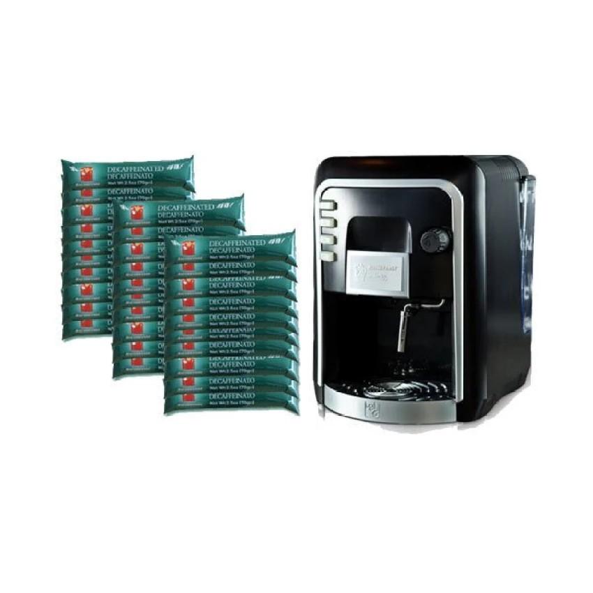 กาแฟแคปซูล : Coffee Italy เครื่องทำกาแฟ รุ่น HAUSBRANDT - Black + แคปซูลกาแฟ 30 แพ็ค รส Decaffeinate