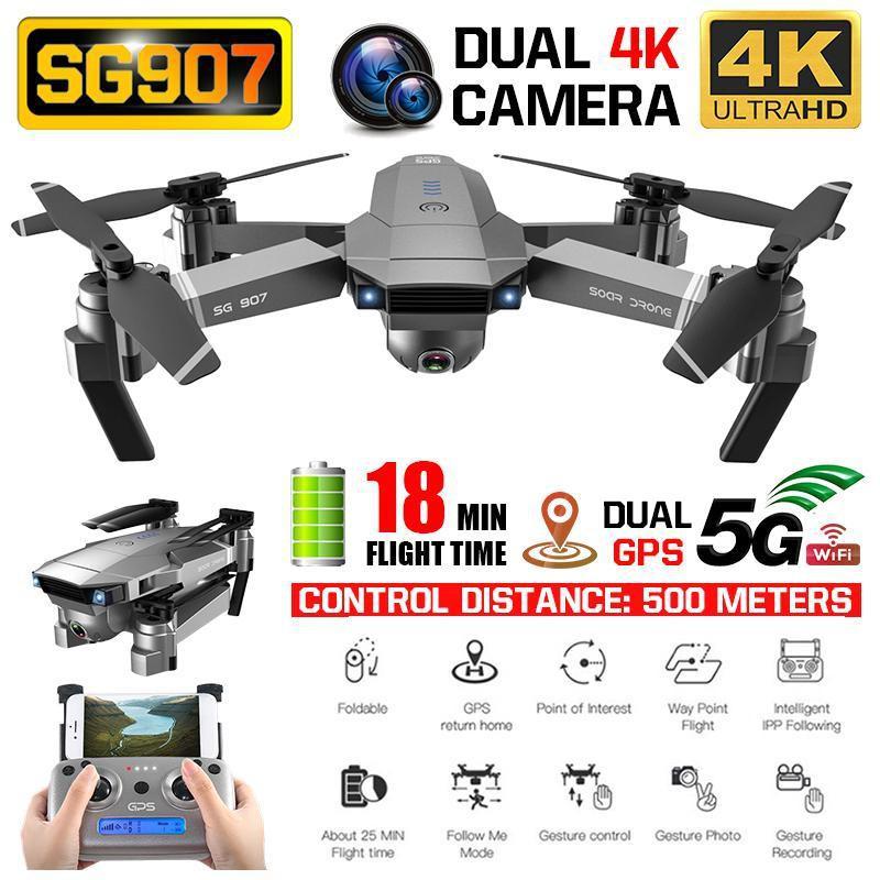 【โดรน ZLRC SG907】เครื่องบิน ZLRC SG907 WiFi GPS โดรน FPV 4 K และ กระเป๋าเดินทาง VS SJRC F11 & SG906 mavie mini