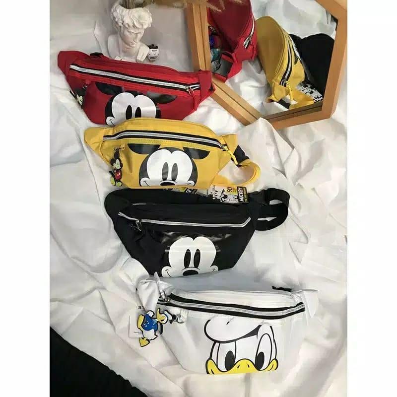 กระเป๋าคาดเอวลาย Mickey Mouse Donald Duck Anello