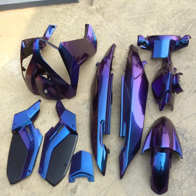 ชุดสีนูโวMX  สีเอฟเฟค  3มิติ ( สีพิเศษ ) ( ชุดสีNOUVO-MX ) 9 ชิ้น
