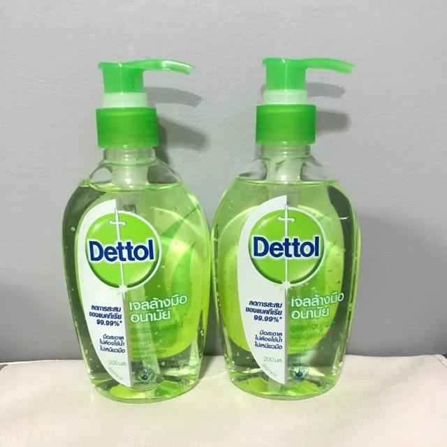 Dettol เดทตอล เจลล้างมืออนามัย รีเฟรช สูตรหอมสดชื่น ผสมอโลเวร่า 200มล. 1 ขวด