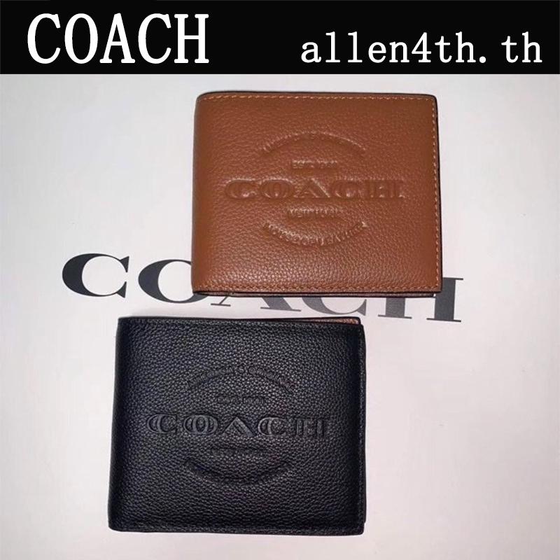 Coach กระเป๋าสตางค์ผู้ชาย F24647 กระเป๋าสตางค์ใบสั้น / กระเป๋าสตางค์หนัง / กระเป๋าสตางค์ บัตร / กระเป๋าสตางค์แบรนด์เนม