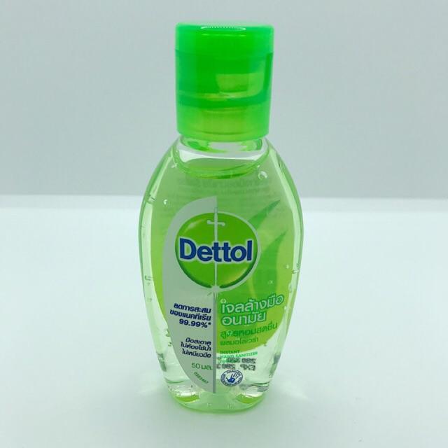 Dettol เจลล้างมืออนามัย ไม่ต้องใช้น้ำ ผสมอโลเวร่า 50ml