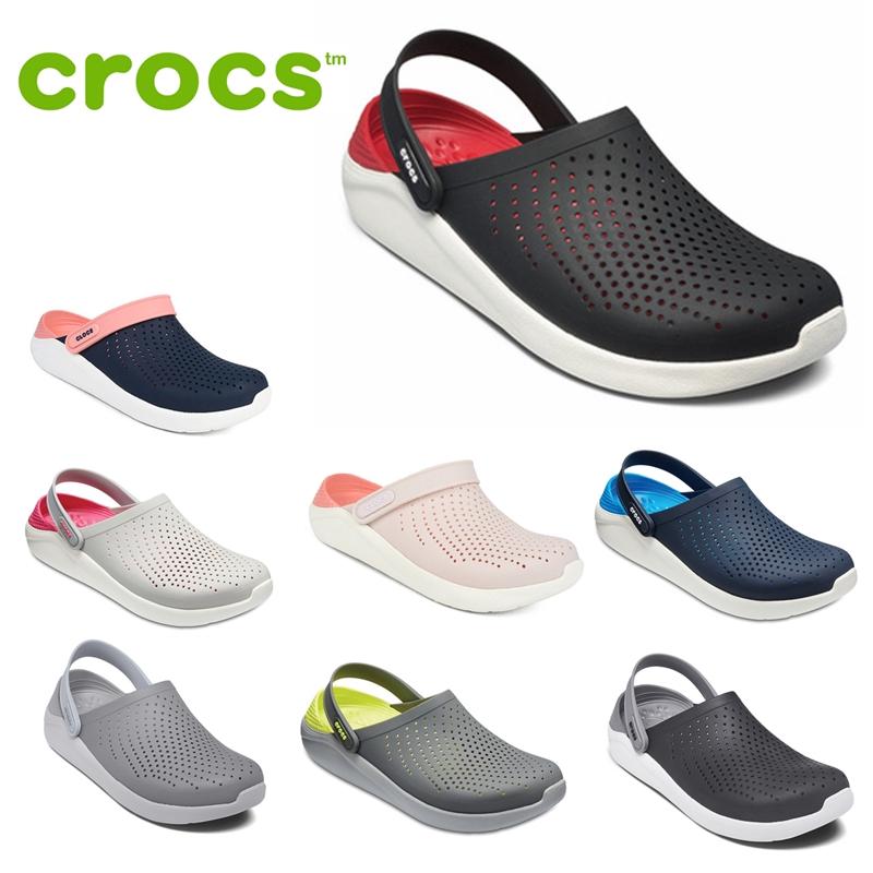(พร้อมส่ง)ขาย crocs Literide พรีเมี่ยมของแท้รองเท้า (อย่างเป็นทางการ)รองเท้าชายหาด