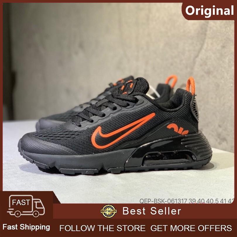 [ของแท้ 100%] Nike Air Max 2090 Running Air Cushion Shoes รองเท้าผ้าใบระบายอากาศ (สีดำ 2)