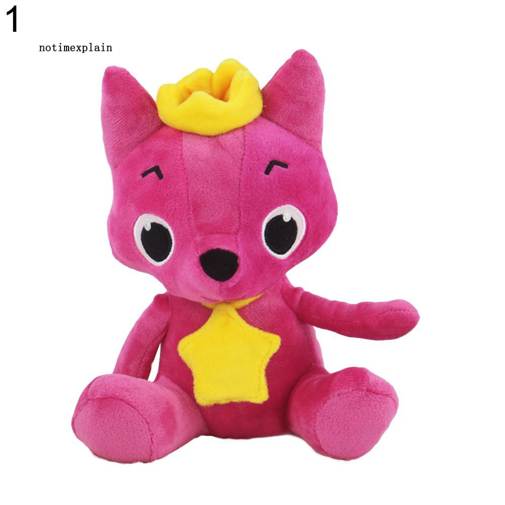Cartoon PinkFong Plush Fox Sharks Dolls Children Baby Animal Kids Baby Toys Gift