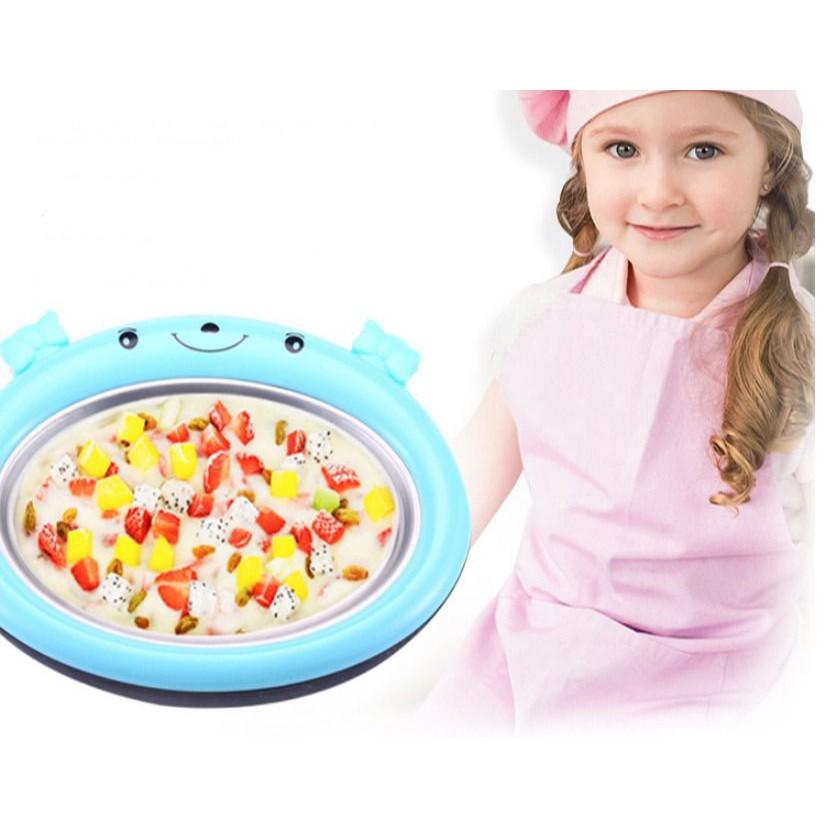 🔥พร้อมส่ง เครื่องทำไอติมผัด สำหรับเด็กๆ  ไม่ใช้ไฟฟ้า ที่ทำไอติม Instant Ice Cream Maker Pan