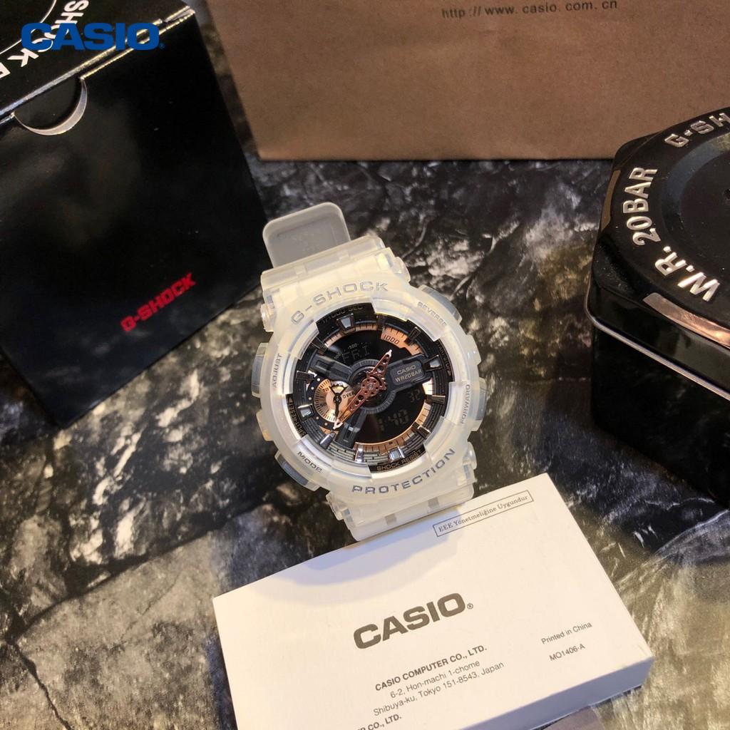 Casio นาฬิกา Casio ของแท้กันน้ำ G-SHOCK GA110 นาฬิกาแฟชั่นนาฬิกาสปอร์ตผู้หญิงผู้ชาย