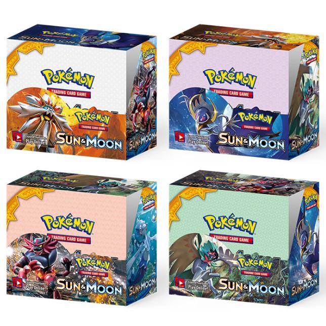 ของเล่นเด็กเกมการ์ด Pokemon Sun Moon Booster Tcg