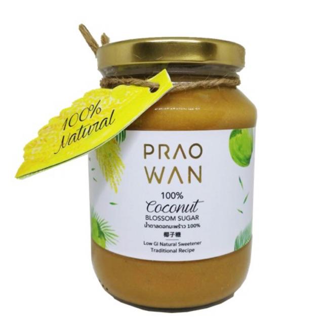 Praowan น้ำตาลดอกมะพร้าวธรรมชาติ 450g