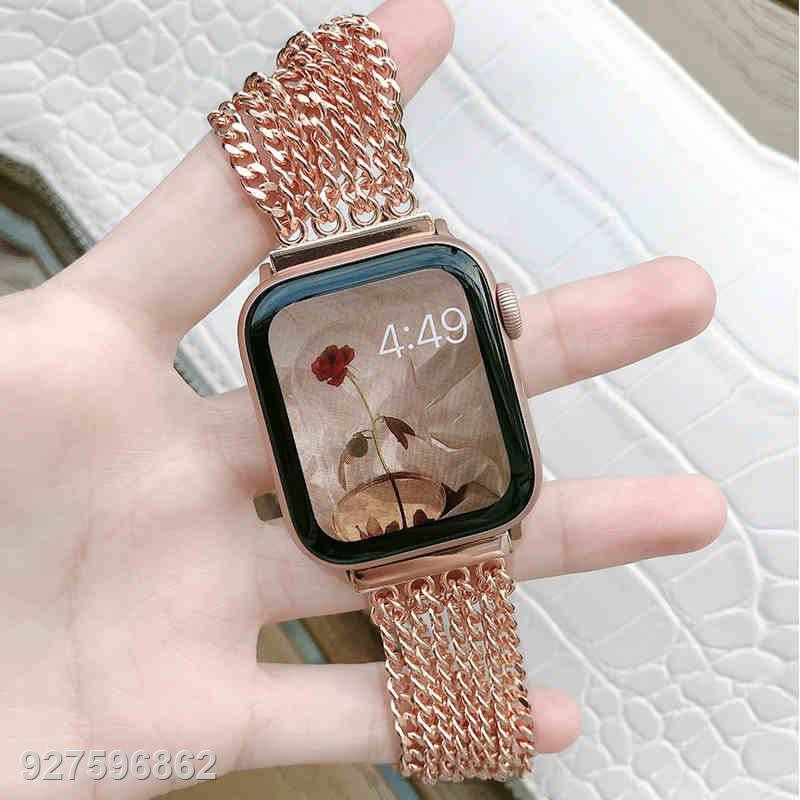 ❀□หรูหรา โซ่ สายนาฬิกา Apple Watch Straps เหล็กกล้าไร้สนิม สาย Applewatch Series 6 5 4 3 2 1 Stainless Steel สายนาฬิกา