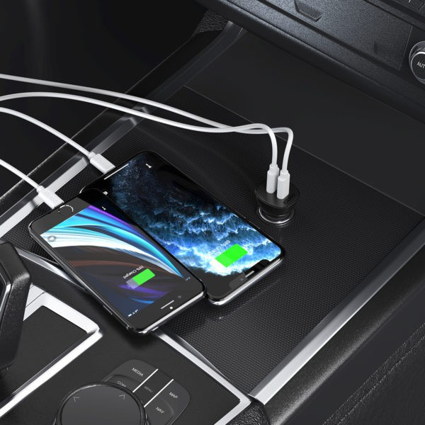 หัวชาร์จเร็ว aukey สายชาร์จ type c fast charge หัวชาร์จในรถ หัวชาร์จเร็วในรถ  Choetech Dual PD18+PD18 / 36w Car Charger