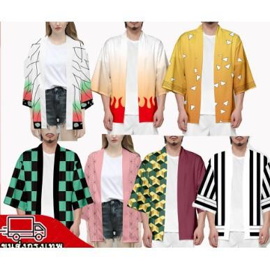 ชุดคอสเพลย์ Anime เสื้อดาบพิฆาตอสูร ชุดชิโนบุ Demon Slayer Kimetsu No Yaiba Cosplay Shinobu Giyuu เสื้อชิโนบ