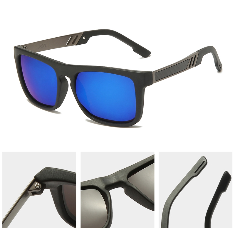 Men's Polarized Photochromic Glasses Fashion Square Glasses Outdoor Trend Cycling  Sport Sunglasses