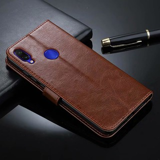 Review Xiaomi Mi 9 se Redmi Note 7 8 Pro Redmi7 Pocophone F1 Magnetic Flip Leather Card Holder Stand Phone Casing กรณี
