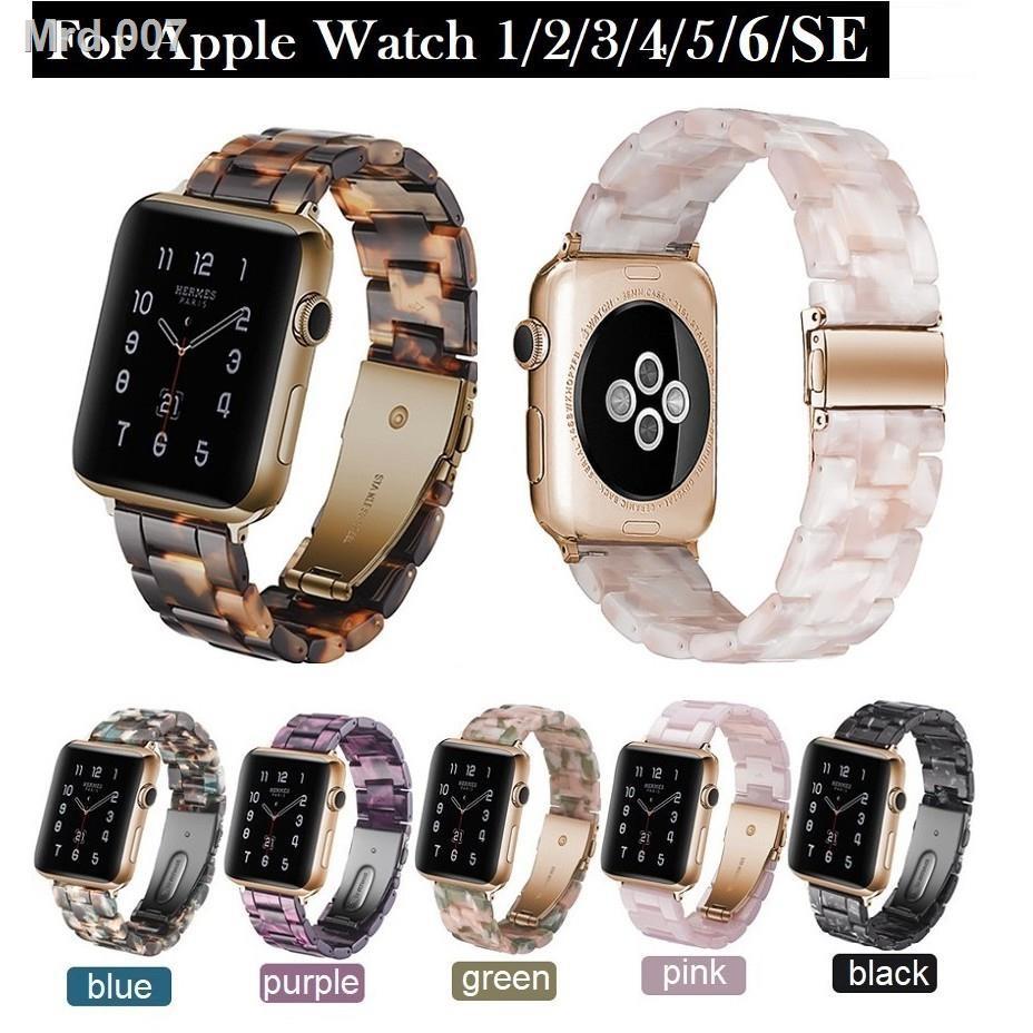 👉สินค้าคุณภาพราคาถูกสายนาฬิกา Apple Watch Resin Straps เรซิน สาย Applewatch Series 6 5 4 3 2 1 /  SE Stainless Steel สา
