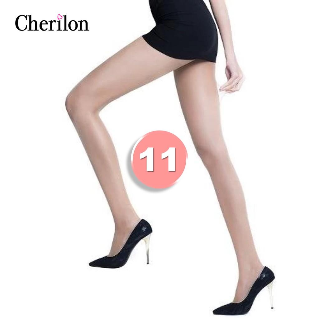 Cherilon ถุงน่อง เชอรีล่อน เนื้อลินินเชียร์ ซัพพอร์ท บางใส กระชับเรียวขา ใส่สบาย ระบายเหงื่อดีมาก (1 คู่) NSA-CLICS