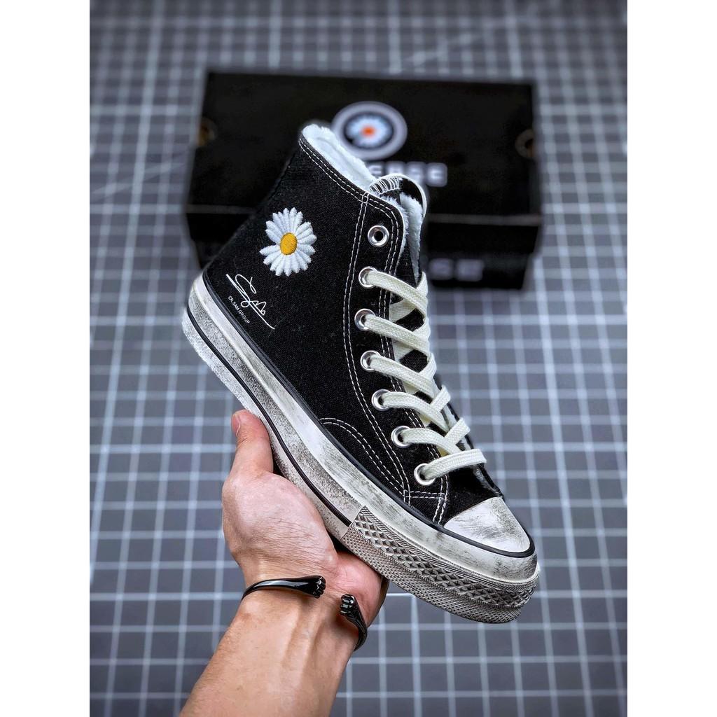 PEACEMINUSONE X CONVERSE รองเท้าหุ้มส้นรองเท้าผู้ชายและรองเท้าผู้หญิงชื่อร่วมของแท้