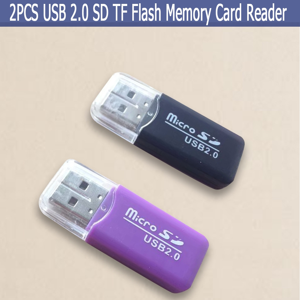 USB 2.0 Memory Card Reader Writer Adapter for SD MMC SDHC TF Card UP To 64GB