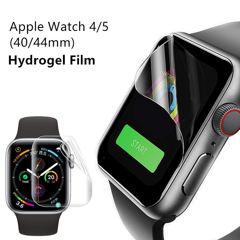 Apple Watch 5 44mm 40mm Clear Hydrogel Film iWatch Series 4 Watch Screen Protector Film