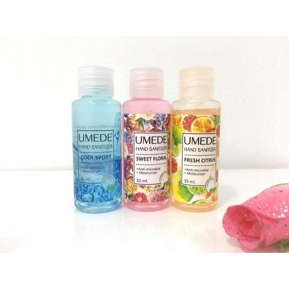 เจลล้างมือแอลกอฮอล์ 💥 พร้อมส่ง 💥 มี อย.ฆ่าเชื้อโรคได้ 99.99% แอลกอฮอลล์ 70% ขนาดพกพา 35 ml มี 3 กลิ่น (ราคาต่อ 1 หลอด)